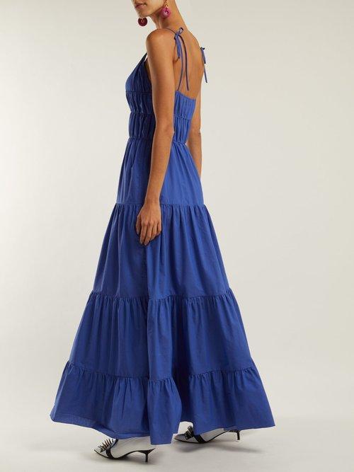 Photo of Ruched Cotton Maxi Dress by Marques'Almeida - shop Marques'Almeida dresses online sales