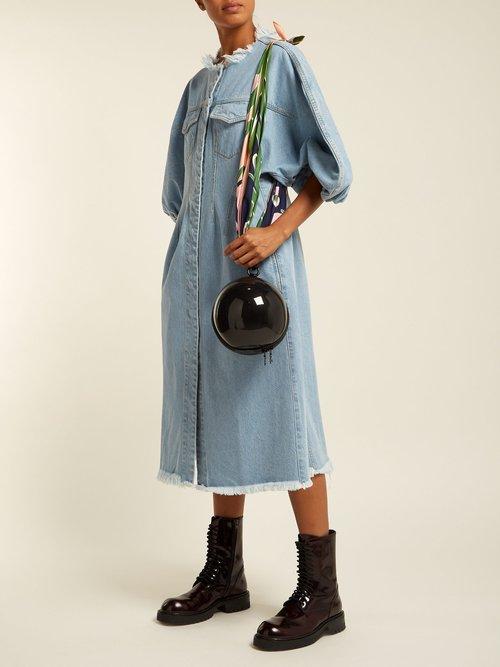 Puff Sleeve Denim Dress by Marques'Almeida