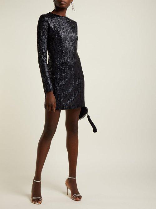 Dusk Sequin Embellished Mini Dress by Galvan