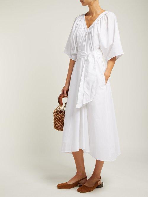 Lante Belted Cotton Dress by Merlette