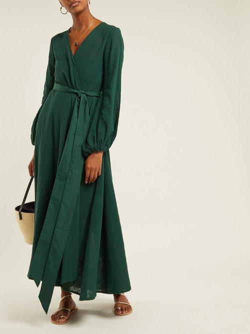Gaia Cotton Gauze Wrap Dress by Kalita