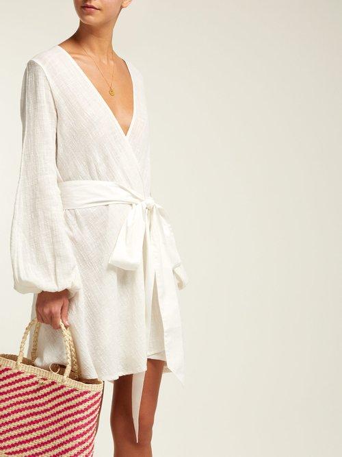 Gaia Tie Waist Cotton Dress by Kalita