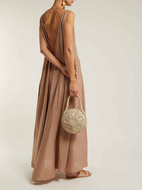 Clemence Cotton Blend Organza Maxi Dress by Kalita