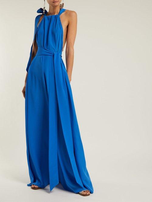Camille Gathered Silk Maxi Dress by Kalita