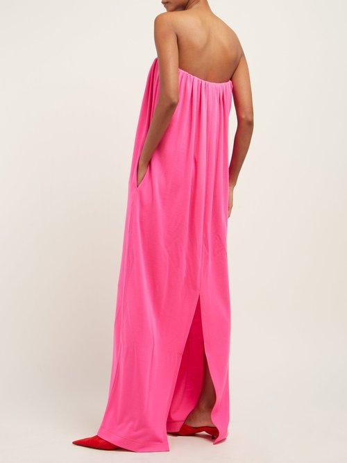 Strapless Wool Jersey Column Gown by Calvin Klein 205W39Nyc