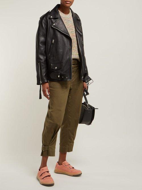 Myrtle Leather Biker Jacket by Acne Studios