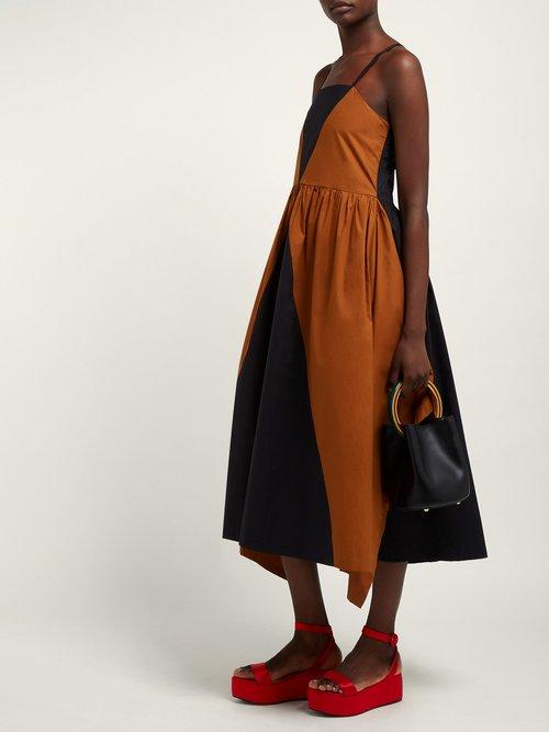 Cesenatico Panelled Cotton Dress by Isa Arfen