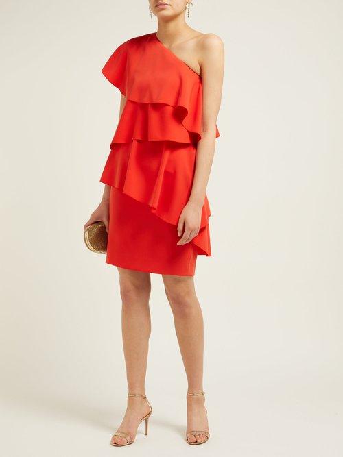 One Shoulder Ruffled Dress by Lanvin