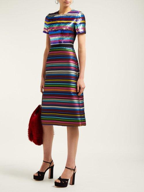 L'amur Sequinned Jacquard Dress by Mary Katrantzou