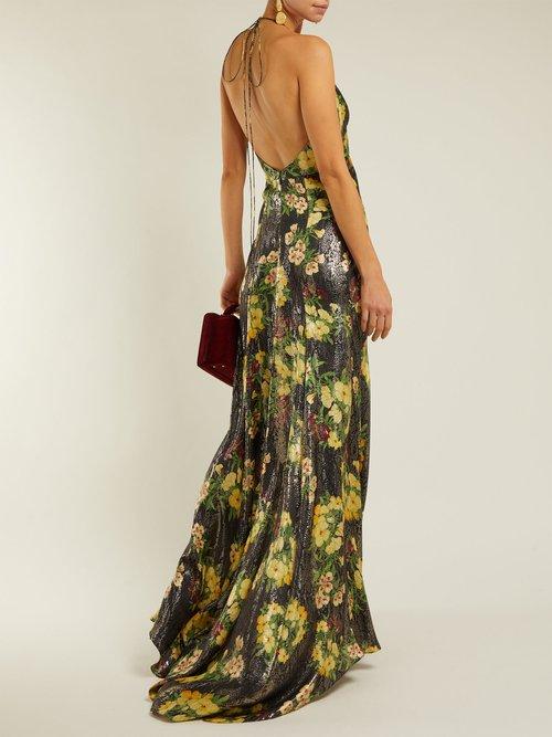 Scarface Floral Print Silk Blend Dress by Adriana Iglesias