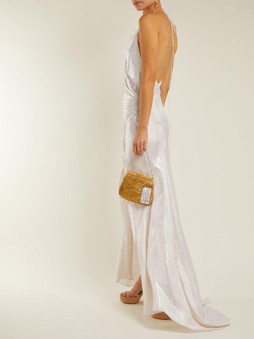 Scarface Silk Blend Satin Dress by Adriana Iglesias