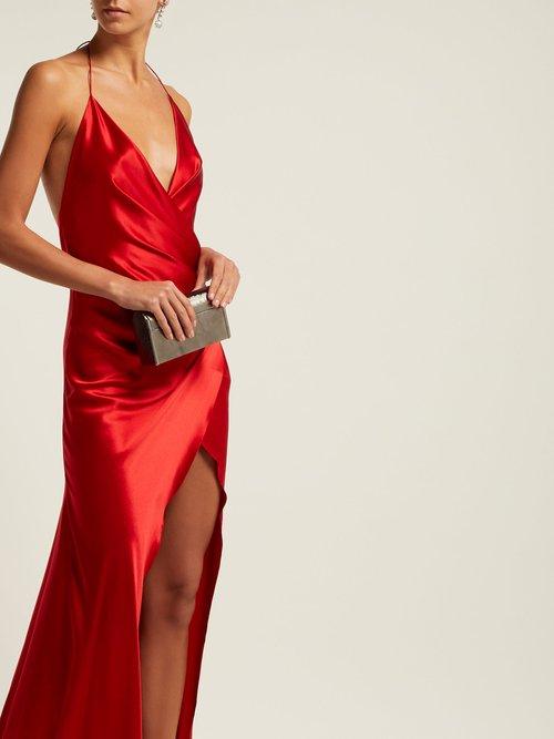 Scarface Draped Silk Blend Dress by Adriana Iglesias