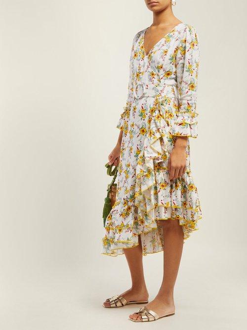 Floral Print Linen Dress by