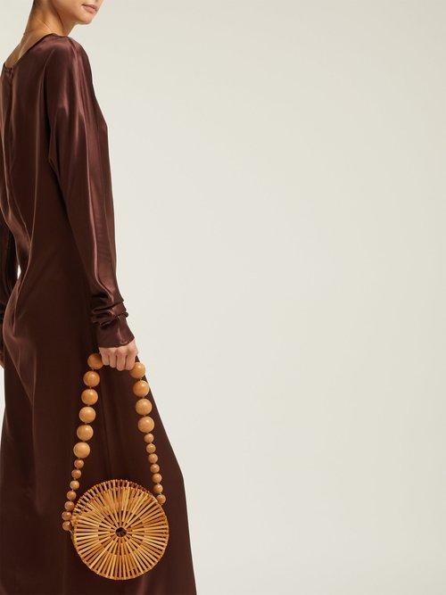Alma Silk Satin Maxi Dress by Albus Lumen