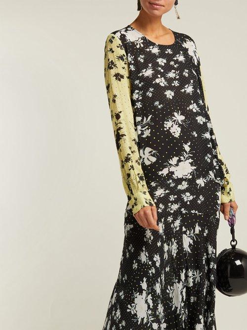 Marin Floral Print Drop Waist Midi Dress by Preen Line