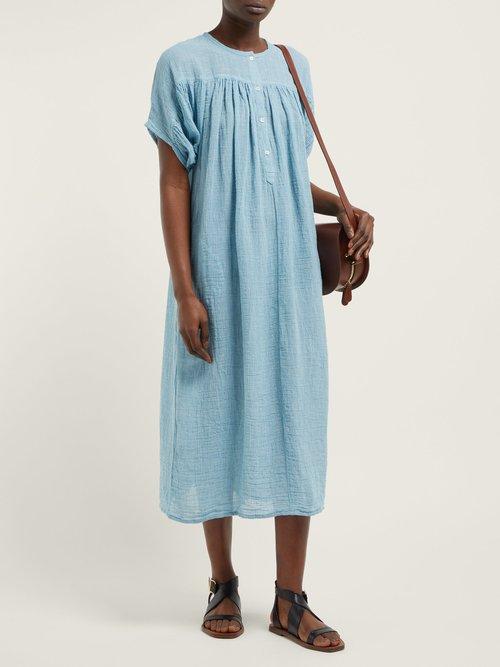 Holbox Striped Linen Blend Dress by Masscob