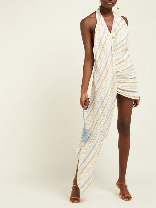 Spezia Cotton And Linen Blend Halterneck Dress by Jacquemus
