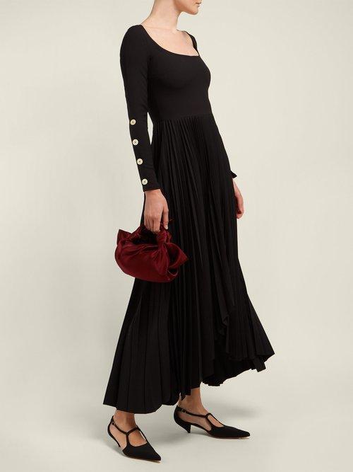 Pleated Jersey Dress by A.W.A.K.E. Mode