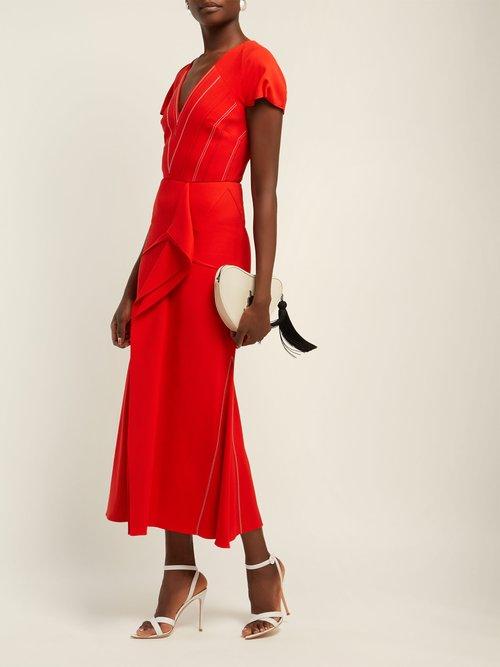Bates Draped Crepe Dress by Roland Mouret