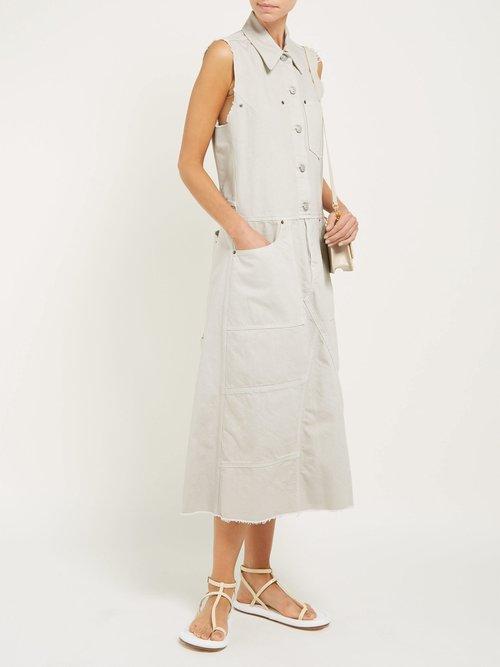 Button Down Denim Midi Dress by Mm6 Maison Margiela