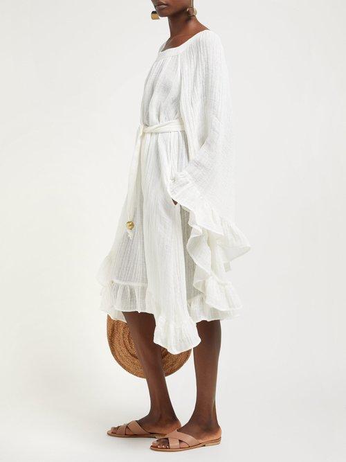 Anita Bell Sleeve Linen Blend Dress by Lisa Marie Fernandez