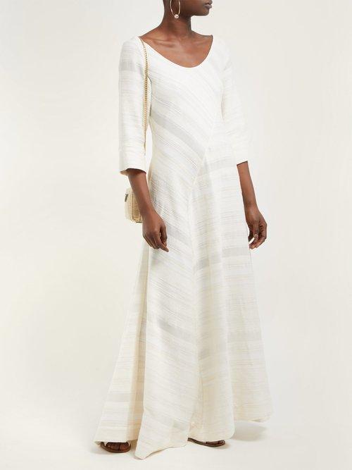 Bias Cut Cotton Maxi Dress by Lisa Marie Fernandez