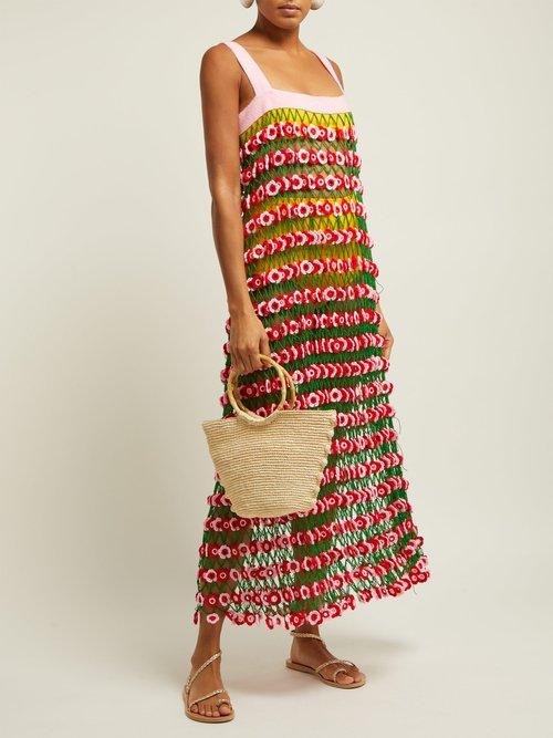 Flower Power Crochet Knit Midi Dress by My Beachy Side