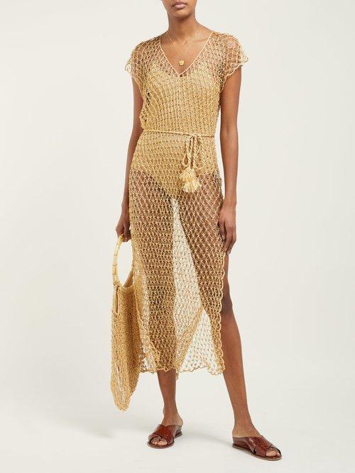 Beaded Crochet Knit Beach Dress by My Beachy Side