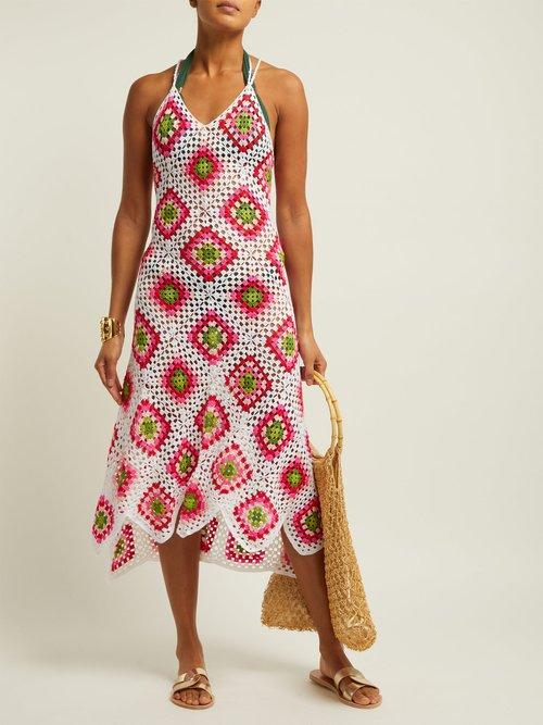 Sexy Granny Crochet Knit Cotton Midi Dress by My Beachy Side