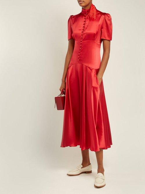 Plimpton Silk Satin Dress by Hillier Bartley
