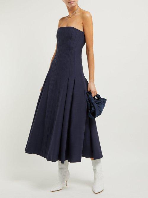 Lamento Wool Blend Crepe Bustier Gown by Gabriela Hearst