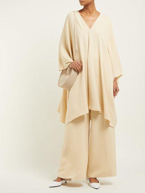 Iona Stretch Crepe Kaftan Dress by The Row
