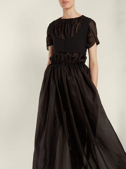 Regina Gathered Silk Organza Dress by The Row
