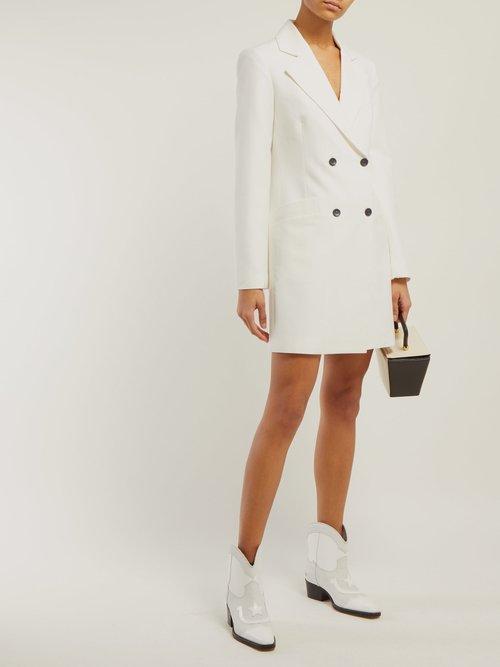 Roxy Double Breasted Tuxedo Mini Dress by Staud