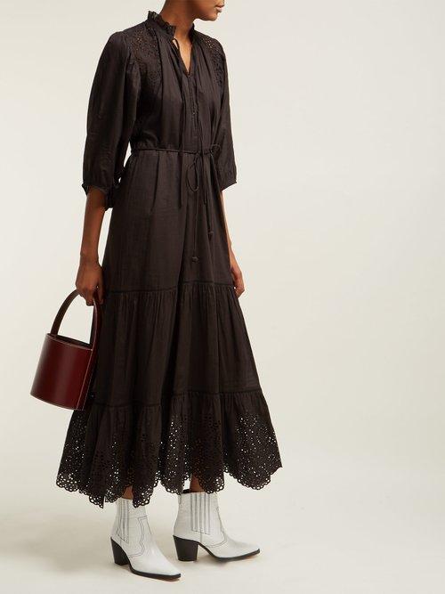Granada Broderie Anglaise Cotton Midi Dress by Apiece Apart