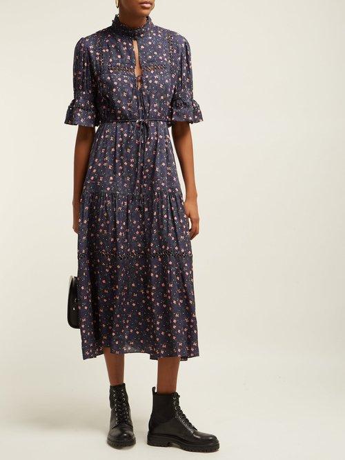 Los Altos Floral Print Dress by Apiece Apart