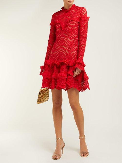 Ruffled Lace Dress by Jonathan Simkhai