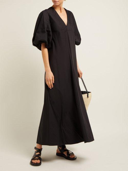 Tiggy Puff Sleeve Cotton Blend Dress by Lee Mathews