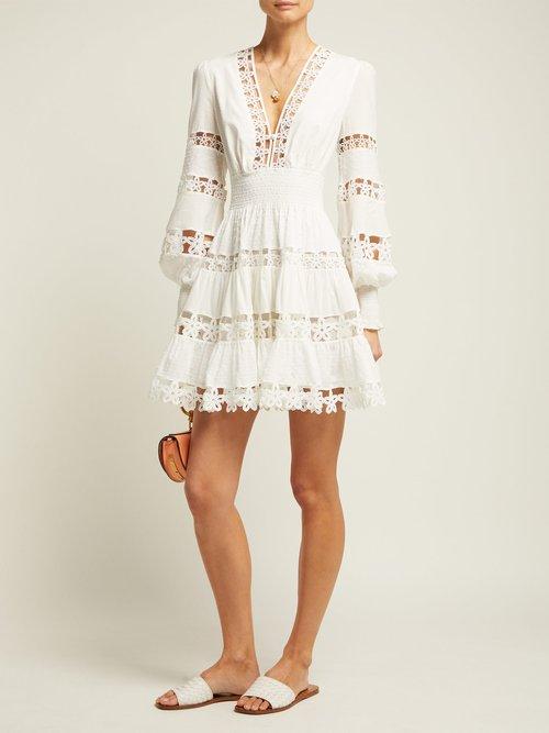 Primrose Daisy Cotton Mini Dress by Zimmermann