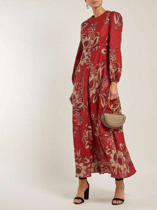 Juno Rosa Batik Print Linen Dress by Zimmermann