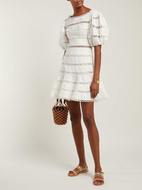 Bowie Cotton And Linen Blend Mini Dress by Zimmermann