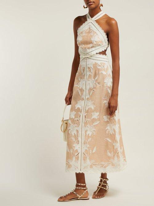 Corsage Lily Halterneck Dress by Zimmermann