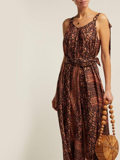 Juniper Scarf Print Silk Midi Dress by Zimmermann