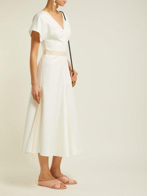 Camilla Twill Midi Dress by White Story