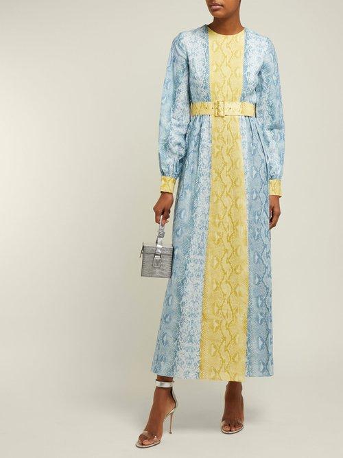 Snakeskin Print Linen Dress by Emilia Wickstead