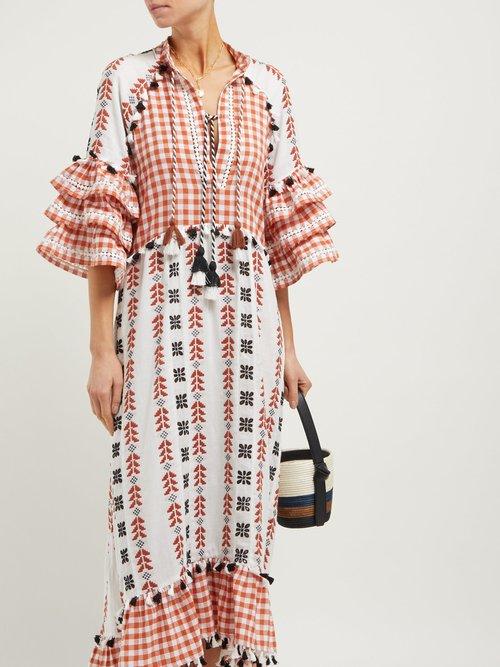 Lola Ruffle Sleeve Cotton Maxi Dress by Dodo Bar Or