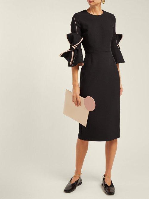 Lavette Bow Trimmed Crepe Dress by Roksanda