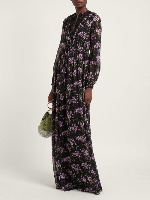 Floral Print Silk Georgette Gown by Giambattista Valli