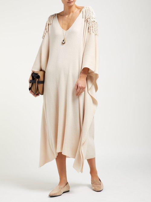 Crotchet Cashmere Knit Shawl Dress by Ryan Roche