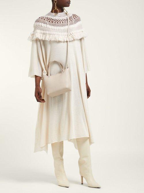 Crotchet Knit Cashmere Kaftan by Ryan Roche